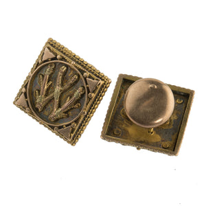 Antique Victorian gold filled button or cuff link studs. btvc805