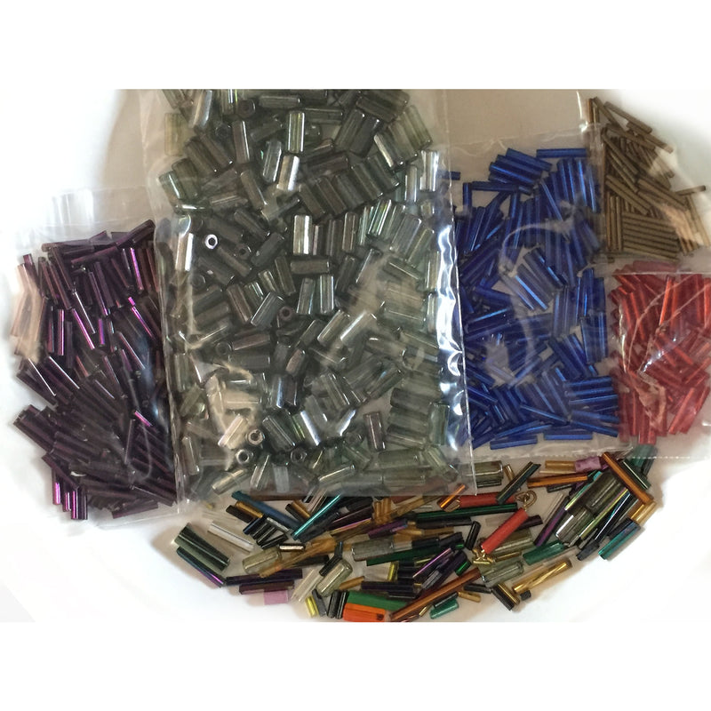 A grab bag of vintage bugle beads b19-009