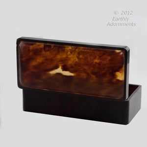 Antique genuine tortoise shell box. bxvc101