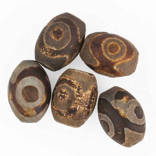 Tibetan agate barrel gemstone beads avg. 20x15. 5 pcs. b4-aga240cs