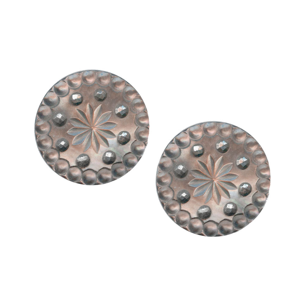Antique Victorian button earrings. ervn909