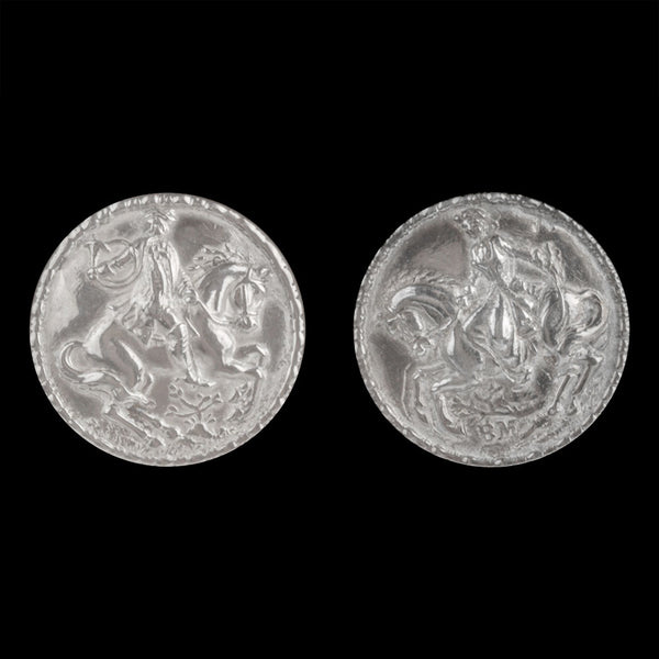 19th century Norweigan silver button earrings. ervs881(e)