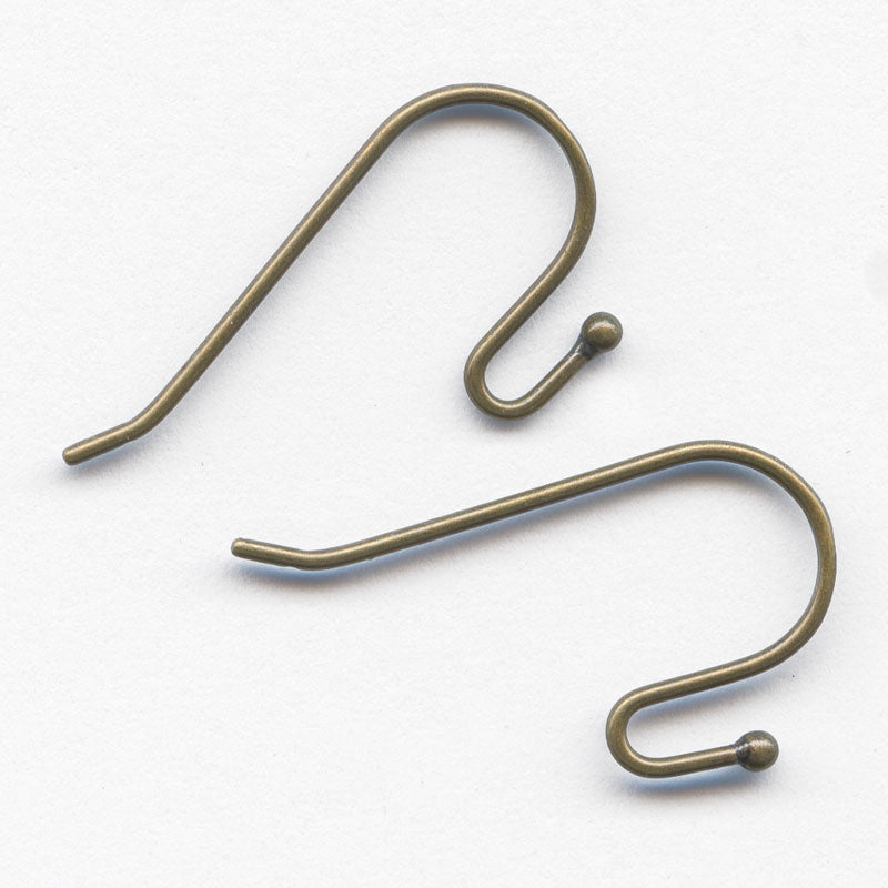 Ball tip earwire 23mm Antique brass finish pkg of 4. b9-1085(e)