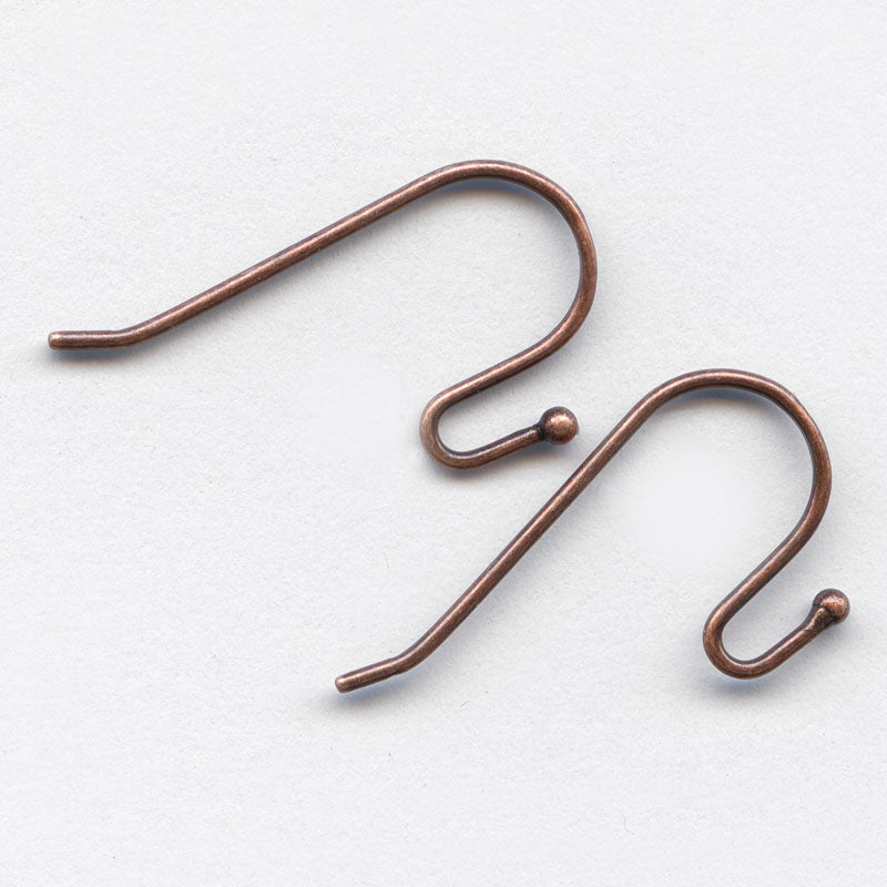 Ball tip earwire 23mm Antique copper finish pkg of 4. b9-1086(e)