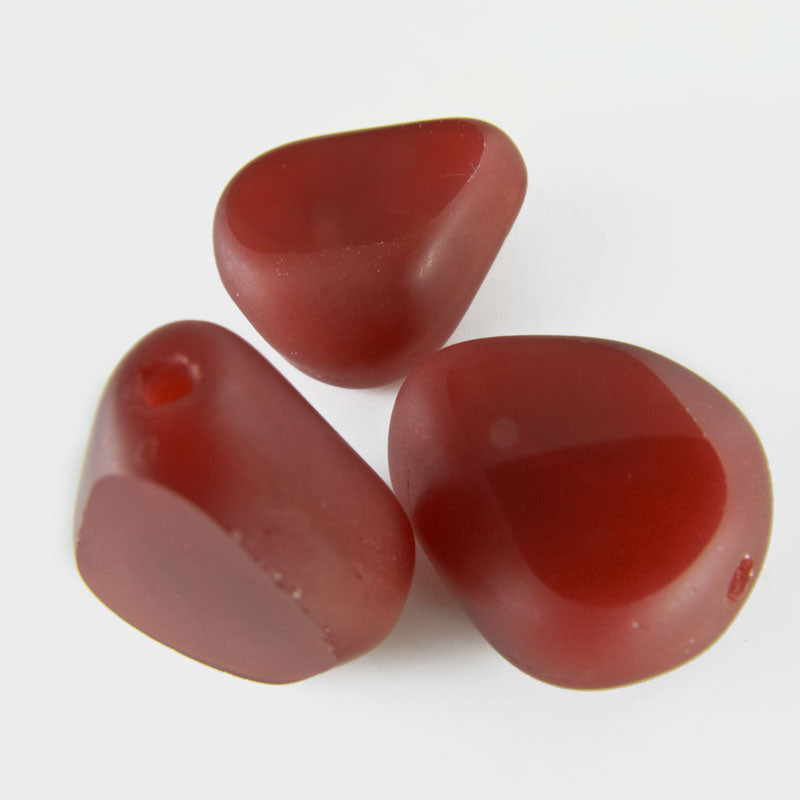 Rare Carnelian Sliced Glass Bead. 12x14mm. 1 pc. B11-BR-0328(e)