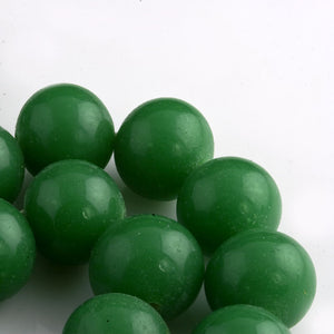 Vintage Japanese Opaque Chrysoprase Green Glass Rounds.  12mm. 6 pcs. b11-gr-1163