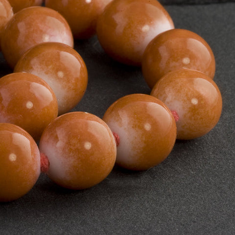 Vintage Japanese white and coral rounds average 10mm, Pkg of 10. b11-yo-0953(e)
