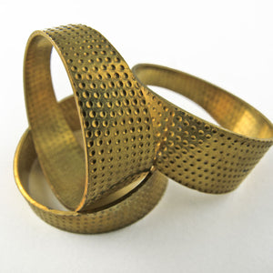 b9-2008-Vintage flat solid brass finger ring size 8 Package of 2