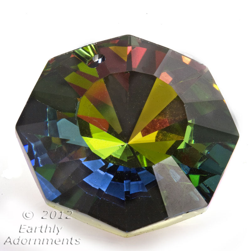 Vintage rare Swarovski Austrian crystal octagon in medium vitrail, Article 6208 28mm. 1 pc. B11-CR-0869
