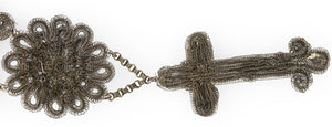 Silesian wirework medallion and cross necklace, early 19th century . nlfn119(e)