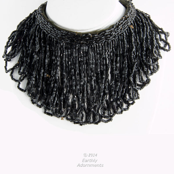 nlad875(e)- Art Deco 1920's beaded detachable collar/necklace.
