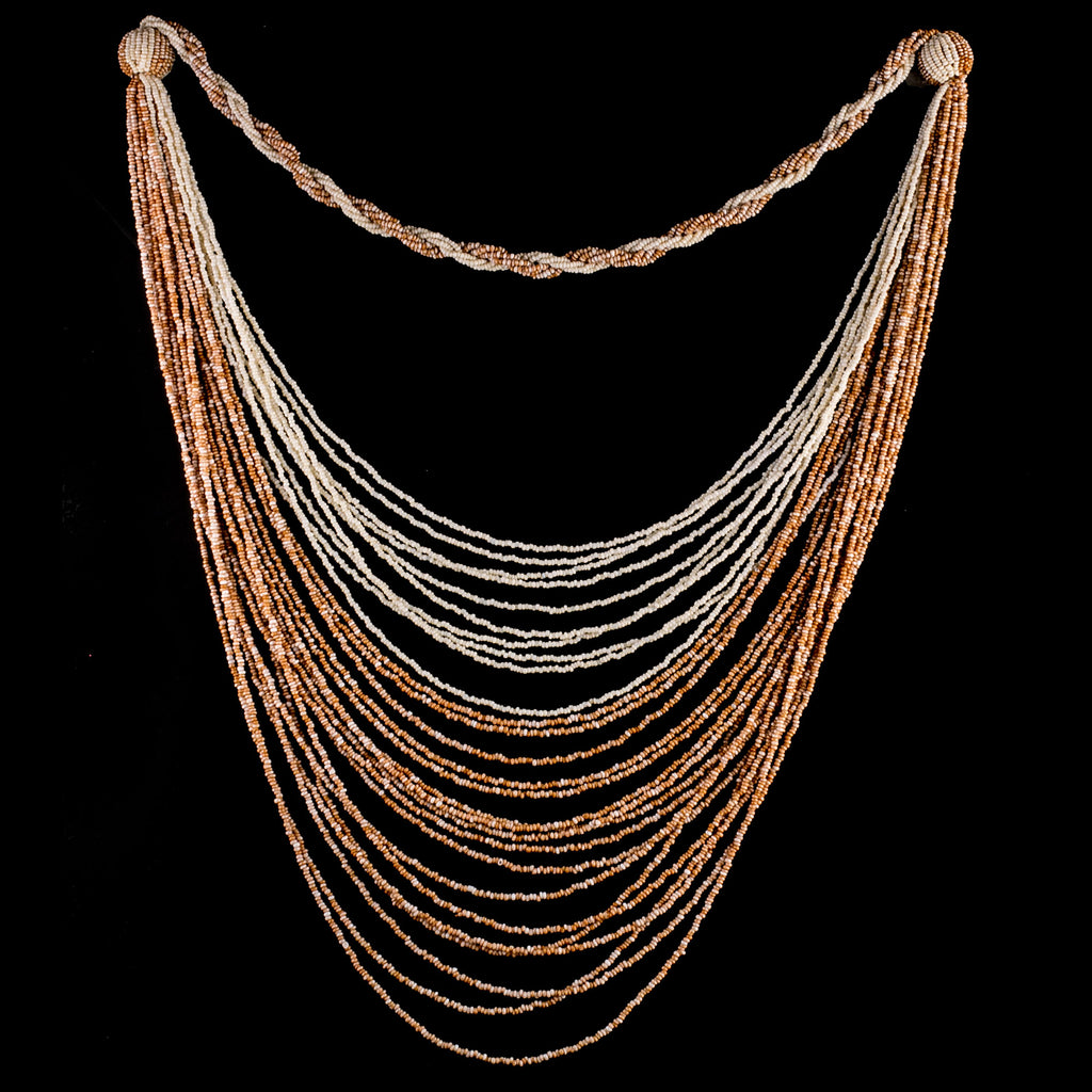 Art Deco flapper multi-strand  beaded swag necklace, circa 1920s. nlad972