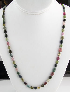 Vintage natural Brazilian tourmaline necklace. nlbd1096