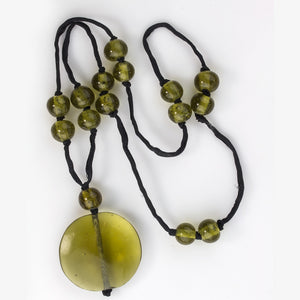 Necklace of rare antique Chinese Peking glass beads. nlbd1192
