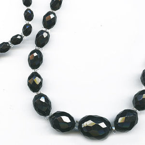 Art Deco faceted Bakelite Amber and crystal rondelle necklace. nlbd987