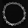 Vintage 1950s Monet silver metal choker length necklace. nlcs821