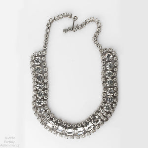 Vintage rhinestone necklace. nlcs826