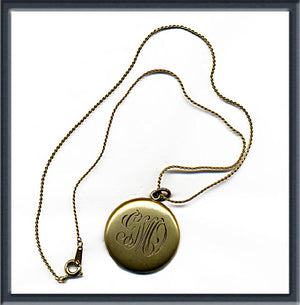 Edwardian gold filled locket. pded62cn