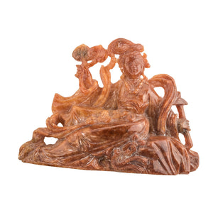 pdgm119(e)-Vintage jadeite carving of Quan Yin