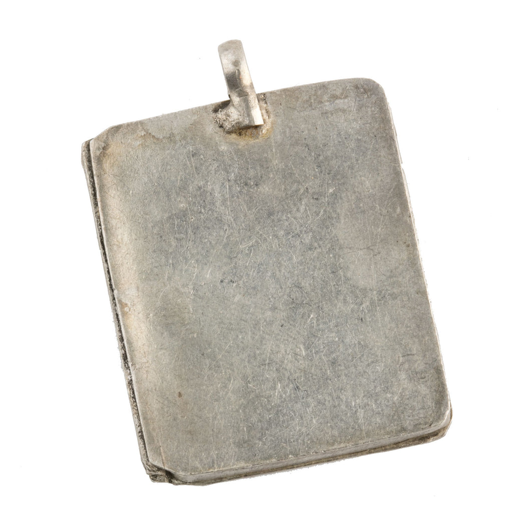Old silver box pendant from India.  pdvs652cs
