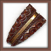 Art Deco deep carved bakelite dress clip. pnbk741(e)