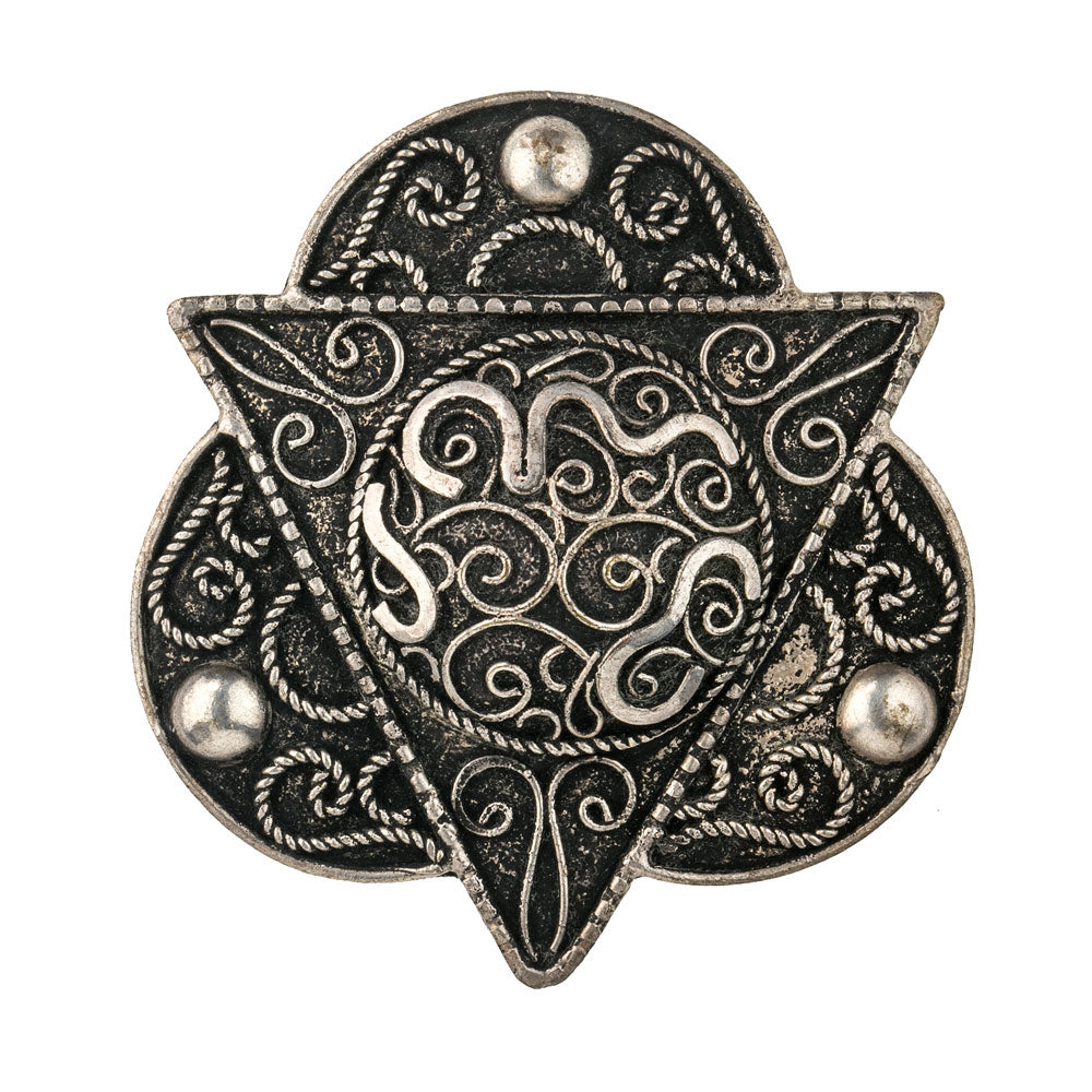 pnet100cs(e)-Vintage North African Islamic silver brooch