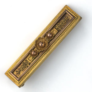 Greek revival Victorian bar pin. PNVC765