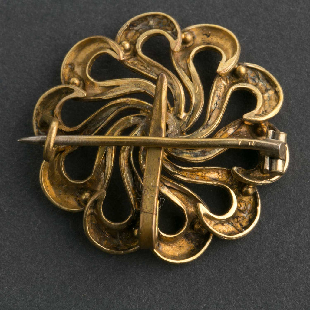 Antique Victorian gold filled love knot brooch pendant watch pin. C. 1880;s. PNVN692