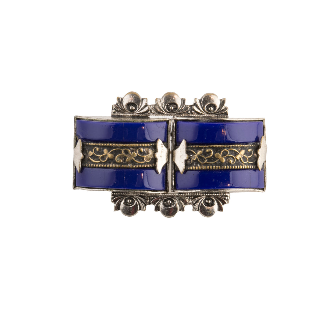 1920s 835 silver and enamel brooch, Czechoslovakia. pnvs883