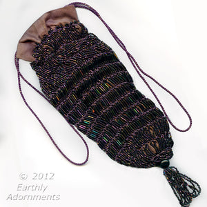 Beautiful Art Deco beaded reticule bag. hbad103(e)