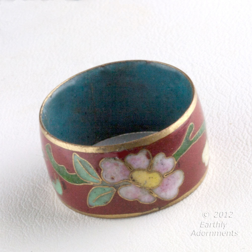rgor105-Vintage cloisonne band ring