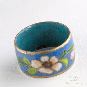 rgor106-Vintage cloisonne band ring