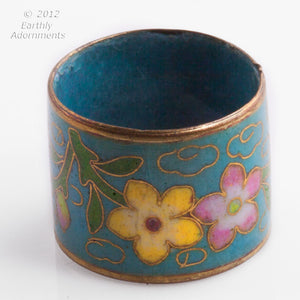 rgor111-Vintage cloisonne band ring