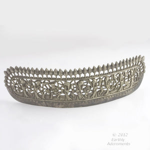 Antique Chinese coin silver repoussé wedding crown. skvs100