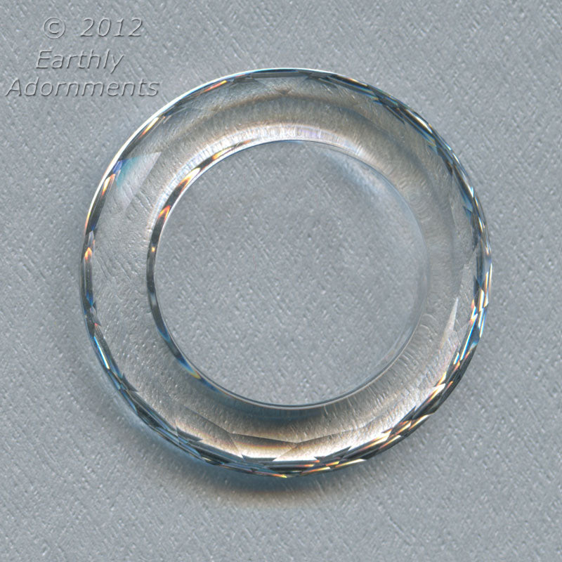 Swarovski crystal beveled faceted ring. 30mm, 19mm inside diameter. 1 pc. b11-cr-0875(e)
