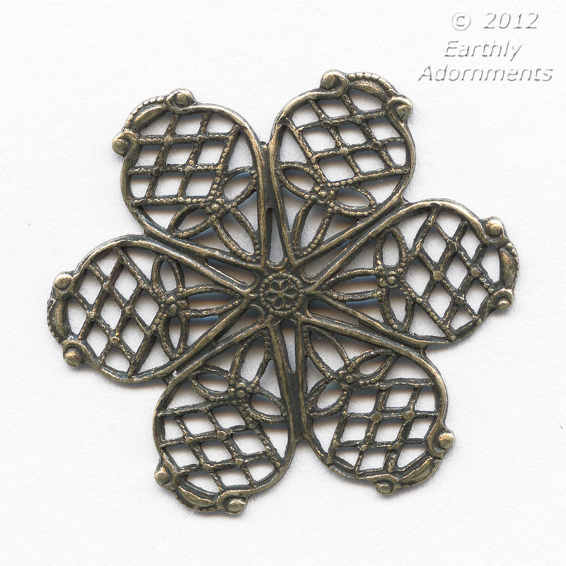 Brass Filigree 27 mm. Pkg. of 1. b9-0545(e)