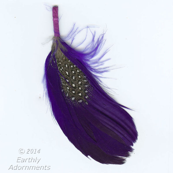 Fancy feathers assemblage. Perfect size for earrings. Average 2-3 inches. Package of 2. b10-0385(e)