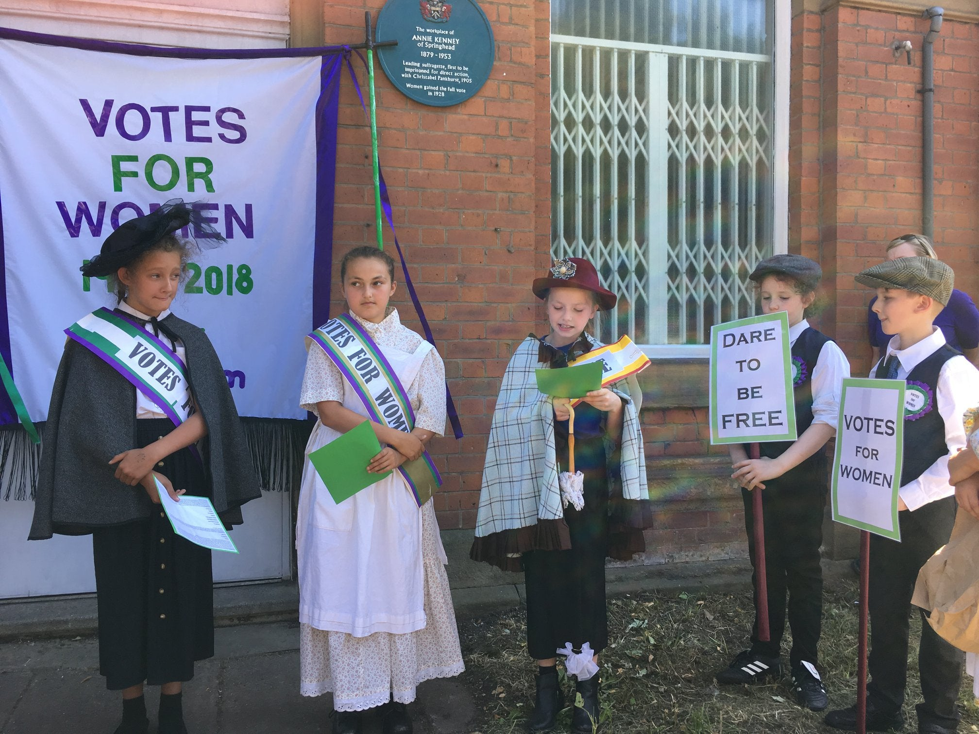 St Thomas Leesfield School Hold Annie Kenney Performance
