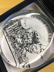Oldham Histories paperweight - Oldham Library