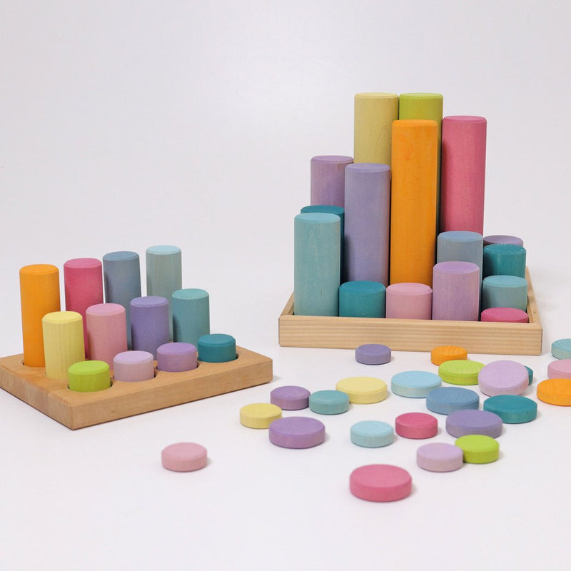 Wooden Pastel Coins
