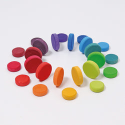 Grimms Wooden Rainbow Coins - Number Play - The Modern Playroom