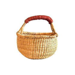 Mini Basket Small Round Natural Basket - Nature Play - The Modern Playroom