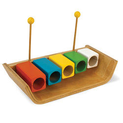 Green Tones Temple Wood Blocks - Music Play - The Modern Playroom