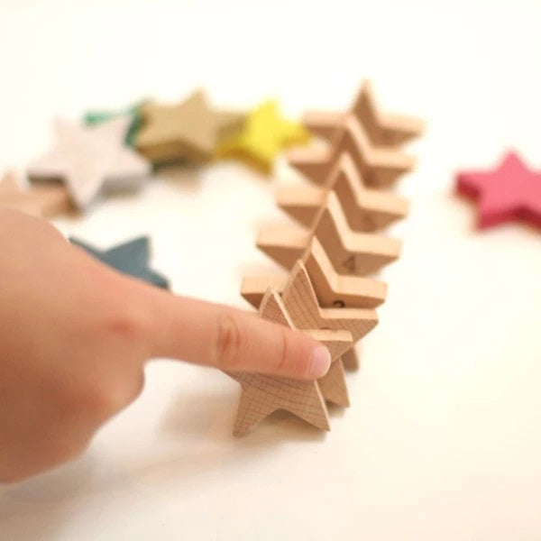 Tanabata Wooden Stars Dominoes