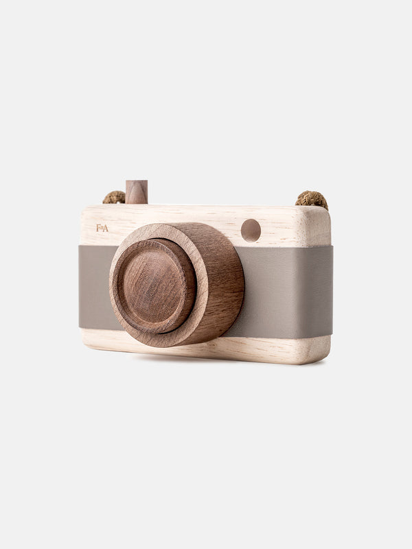 Wooden Camera River Pebble Grey