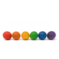 Joguines Grapat 6 Balls in the Rainbow Colours - Number Play - The Modern Playroom
