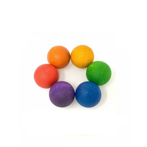 6 Balls in the Rainbow Colours