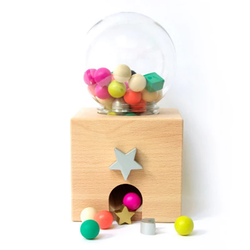 kiko+ & gg* Gatcha Gatcha Wooden Gumball Machine - Picture Play - The Modern Playroom