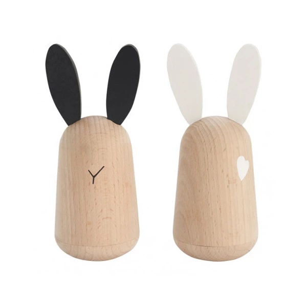 Wooden Rabbit Friends
