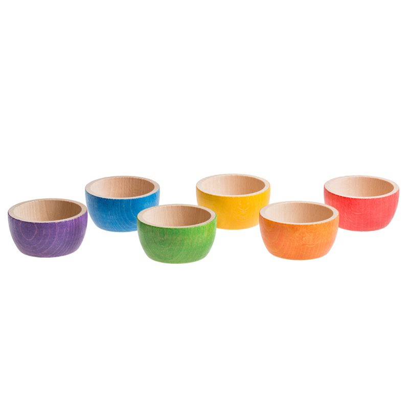 6 Coloured Bowls